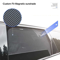 4Pcs Car Side Window Sunshade For Audi A3 A4 A4L A5 A6 A6L Auto Car Accessories Window Visor Shield Curtain Cover
