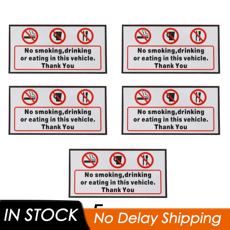 White On Clear-120x50mm-Taxi,Minicab,Minibus,Cab Notice Sign Platinum Place 2 x No Eating,No Drinking,CCTV Fitted Stickers-WINDOW