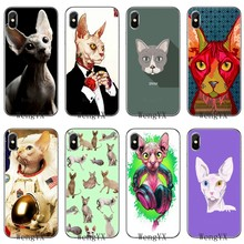 For Xiaomi Mi 9 8 SE Pro A1 A2 Lite 6 6X 5 5s 5x note mix 2s max 2 3 Soft Accessories phone case Sphynx Cat pets fashion(China)