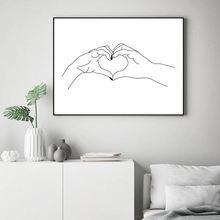 Милый милый плакат в виде сердца простой модный настенный Картина