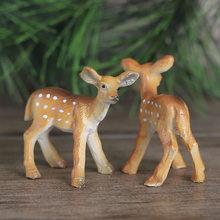Kreative Mini Sika Deer Harz Ornamente Nette Tier Schießen Requisiten Zimmer Desktop Dekoration Miniaturen Figuren Home Decor