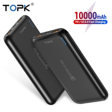 TOPK 10000mAh Power Bank 18W Quick Charge 3.0 Type C PD Fast Charging