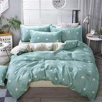 2019 Brief Green Dots Bedding Sets Microfiber Brush Polyester Bedlinens Twin Full Queen King Duvet Cover Set Pillowcases
