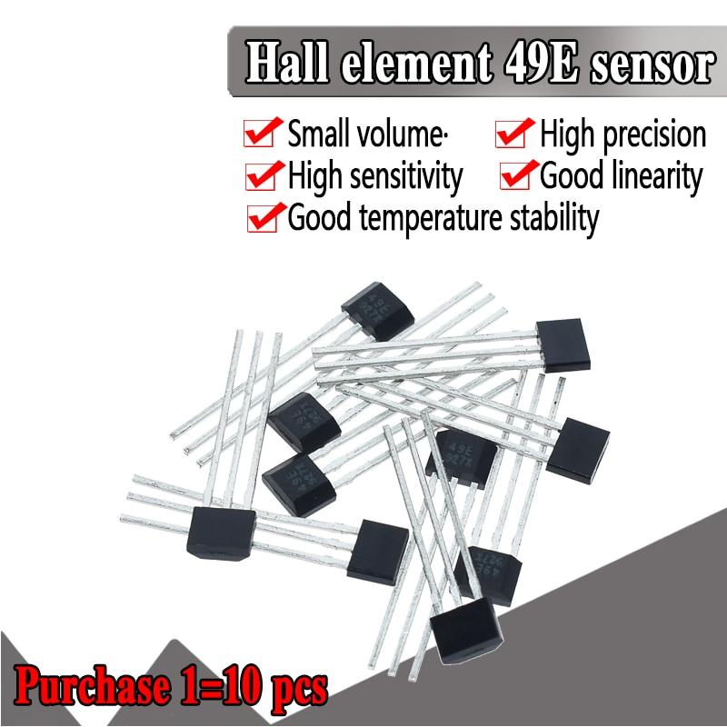 10PCS Official Original 49E Hall Element OH49E SS49E Hall Sensor Hall Effect Sensor New