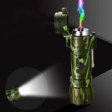 Двухфакфонарь ная струйная Бутановая газовая зажигалка двойная