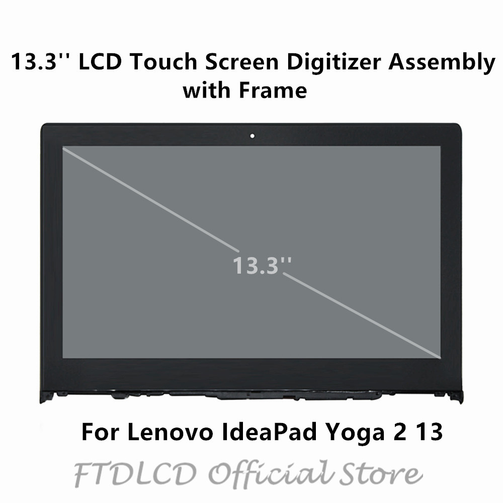 FTDLCD 13.3'' LCD Touch Screen Digitizer Assembly with Frame LP133WF2(SP)(A1) For Lenovo IdeaPad Yoga 2 13 S/N: CB31422497 image