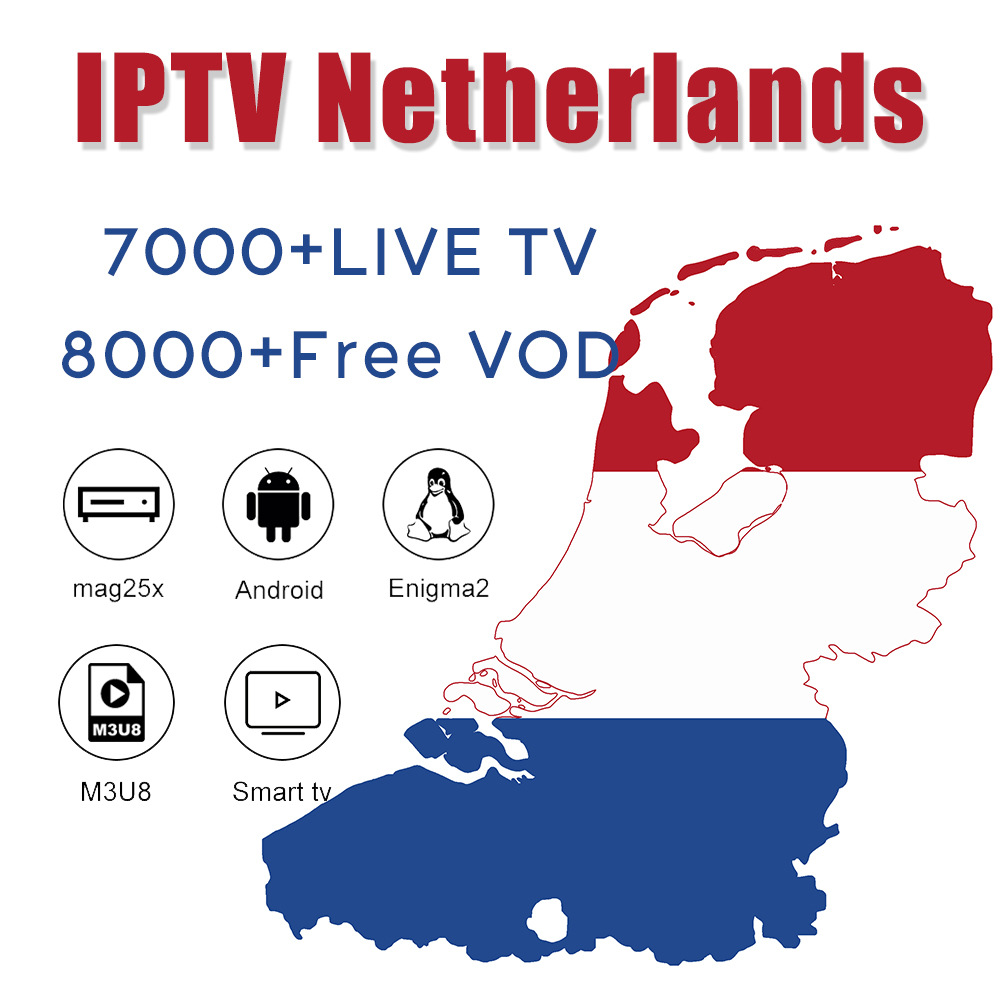 IPTV Netherland Holland IPTV Dutch Channels Subscription 1 Year Germany UK Belgium M3u8 For Smart TV Enigma2 Android Box