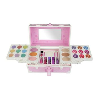 Princess Makeup Toys Set Non-Toxic Pretend Play with Cosmetic Case Training Toy For Girls Birthday Gift
