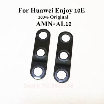 100Pcs Original Rear Back Camera Glass Lens Cover For Huawei Enjoy 10E AMN-AL10 10S AQM-AL00 Lens Replacement Parts With Sticker