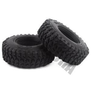 """Image 5 - 4 pièces 1.9 """"caoutchouc Voodoo KLR pneus de roue 105*35mm pour 1:10 RC chenille axiale SCX10 D90 TF2 MST Tamiya"""