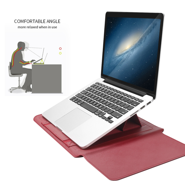 Business Travel Laptop cases Pu Leather Laptop Sleeve Bag