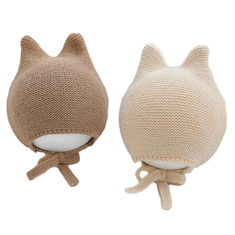 Hiver tricoté chaud bébé chapeau mignon infantile bébé garçon fille casquette oreille Protection chapeaux enfants enfants Beanie Bonnet Enfant