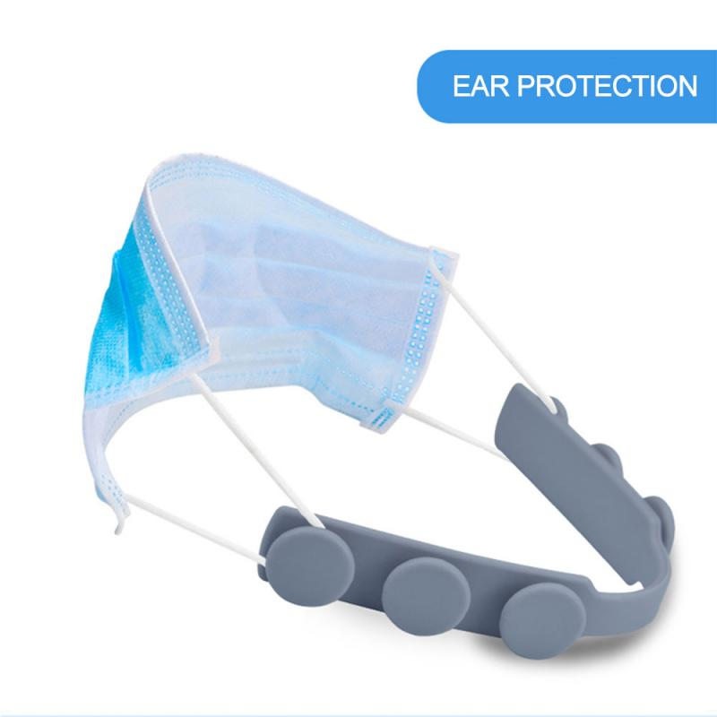 4 Pcs Silicone Third Gear Adjustable Anti-slip Mask Ear Grips Extension Hook Face Masks Buckle Holder Accessories Ear Protection