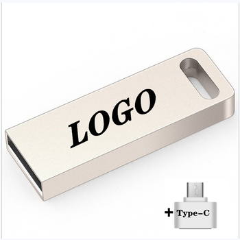 2 in 1 Metal USB Flash Drive Pendrive 4/8/16/32/64G 128G 256G Memory Stick Portable Usb Type-C Pen Cle
