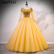 Роскошное бальное платье jaevini 2021 с золотыми кристаллами