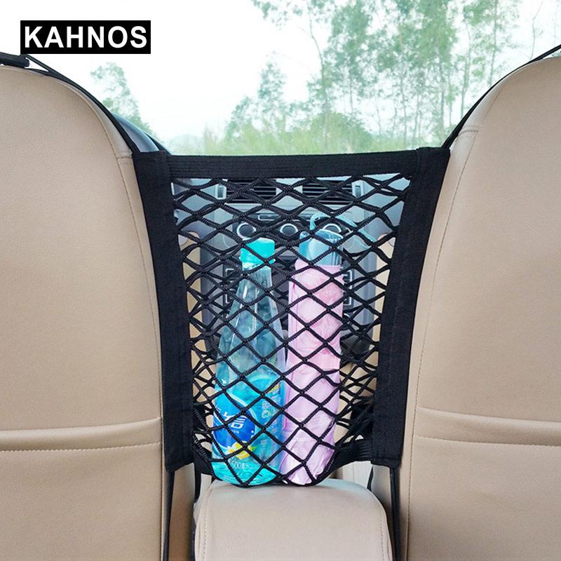 Multifunction Car Organizer Front Seats Elastic Mesh Net Trunk Storage Bag Pocket Stowing In Trunk Bag Car Accessories