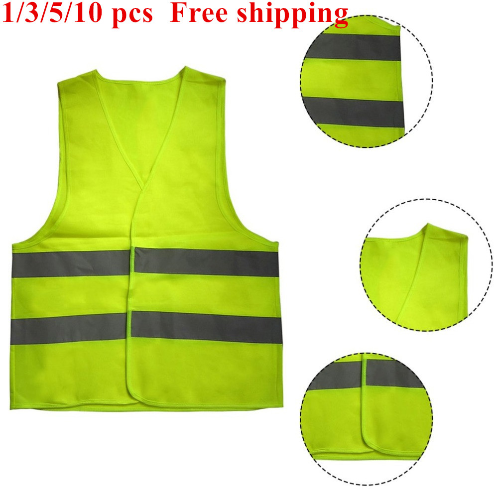 Waistcoat Reflective Safety Reflective Vests High Visibility Fluorescent Outdoor Safety Clothing Running Safe Ventilate Vest
