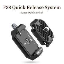 Ulanzi Placa de liberación rápida para cámara DSLR, Kit de interruptor rápido, adaptador de montaje deslizante para trípode, FALCAM F38