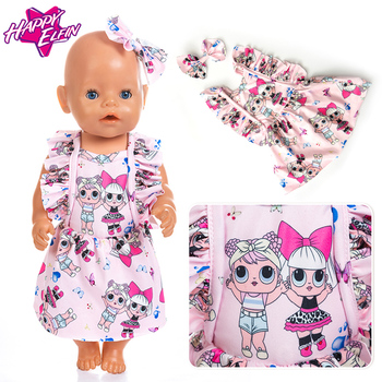 Born New Baby Fit 18 inch 40cm-43cm Doll 3-piece suit with Xiwa Blue Pink Red Rabbit Clothes accessories For Baby Birthday Gift фото