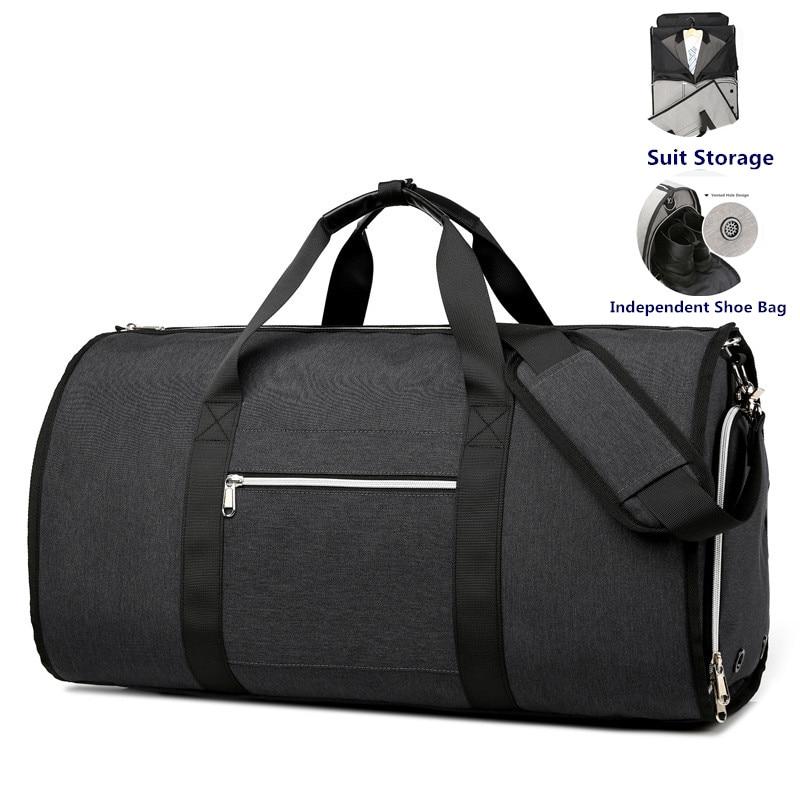 Ozuko multifunction homens sacos de viagem masculino saco viagem portátil sacos duffel homem grande capacidade ombro bolsa volta pacote para terno