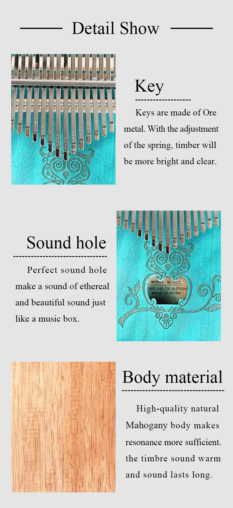 sólida, mogno, instrumento de piano de dedo