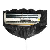 블랙 에어 컨디셔닝 청소 가방 벽 마운트 방수 먼지 세척 깨끗한 수호자 가방 보호 먼지 커버 필터|에어컨 커버|홈 & 가든 -
