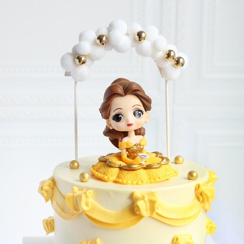 Disney 6 стилей Q Posket принцесс фигурка игрушки куклы Тиана Белоснежка Рапунцель Ариэль Золушка Белль Русалка ПВХ Фигурки игрушки