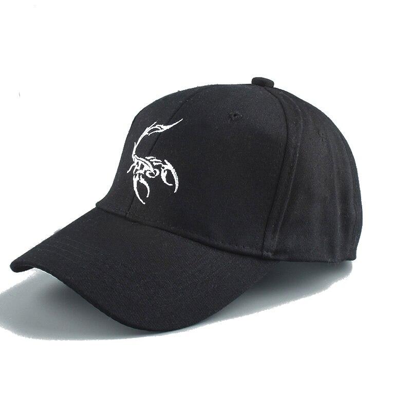 Summer Baseball Cap Men Women Snapback Hat Embroidery Animal Cap Trucker Hat Dad Hat Scorpion Hip Hop White Black Cap