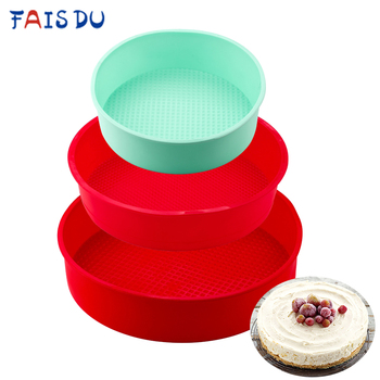 Easy Demolding Silicone Cake Mold Round Random Color Mousse Cake Mold Chese Bread Pastry Kitchen 3D Bakeware DIY Baking Tools silicone pudding mold cake pastry baking round jelly gummy soap mini muffin mousse cake decoration tools bread biscuit mould