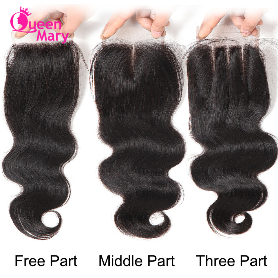 Image 5 - Peruvian Hair Bundles with Closure Body Wave Bundles with Closure 3 Bundles with Closure Queen Mary Non Remy 100% Human Hair-in 3/4 Bundles with Closure from Hair Extensions & Wigs