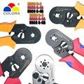 Цветной обжимной инструмент hsc8 6-4 6-6 щипцы kablo kesici плоскогубцы кабель обжимные инструменты плоскогубцы резак для проводов alicate crimpador alicates