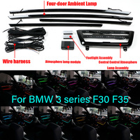 Car Interior Decorative Led Ambient Door Light Stripes Atmosphere Light With 8 Colors For BMW3 Series F30