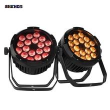 SHEDHS LED 18x18W 6in1 RGBWA% 2BUV IP65 Водонепроницаемый Алюминий сплав Par Light Outdoor DMX Control DJ Stage Light Equipment Effect