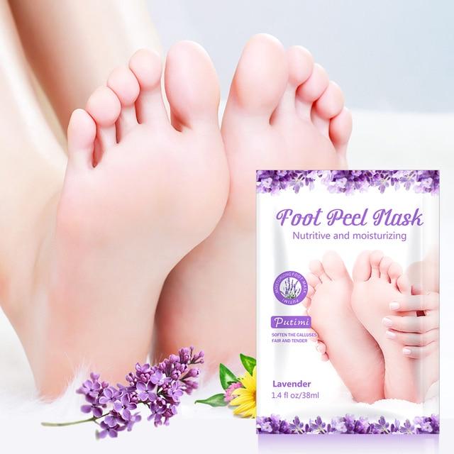 PUTIMI 6pcs=3pack Lavender Foot Mask Moisturizing Exfoliation Socks for Pedicure Remove Dead Skin Exfoliating Feet Mask for Legs 2