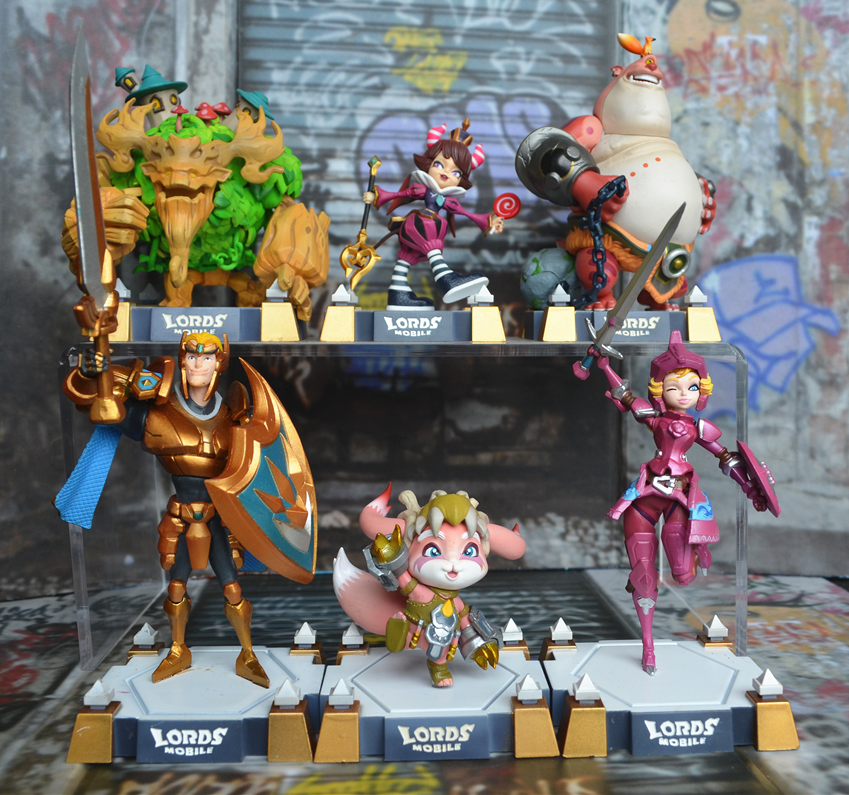 1pcs 9~14cm Lords Mobile Action Figure Doll Cartoon Kids Hard PVC  Model Collection Toy