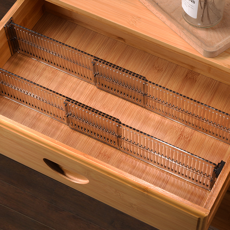 2 Pcs Adjustable Drawer Separator Divider Plastic DIY Socks Closet Storage Organizer Division Board Clapboard Home Accessories