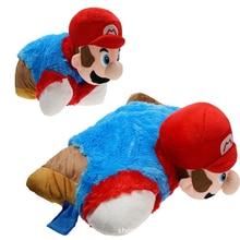 Toy Pillow Birthday-Gift Mario-Bros Super-Mario Plush-Doll Creativity Cartoon for Child