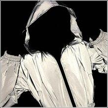 New Flash Hoodies Reflective Jacket Women Short Coat Nightclub Glowing Front Zipper Female Hooded