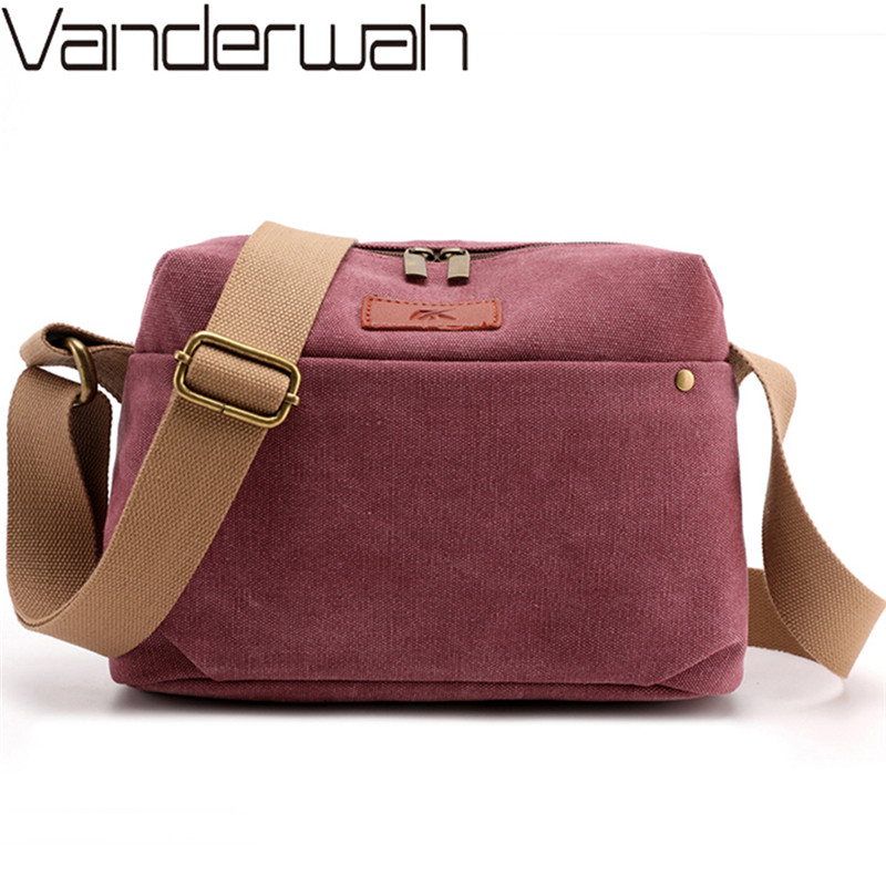 Women Casual Travel Canvas Bag Female Messenger Bag Bolsas Feminina Zipper Shoulder Bags Solid Outdoor Crossbody Bags For Women