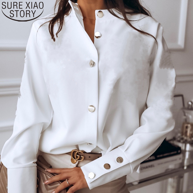 Spring Casual Long Sleeve Blouse  1