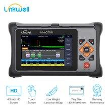Reflectômetro, equipamento de teste de cabo ethernet, pro mini otdr 1550nm 20db, tela sensível ao toque, vfl, opm