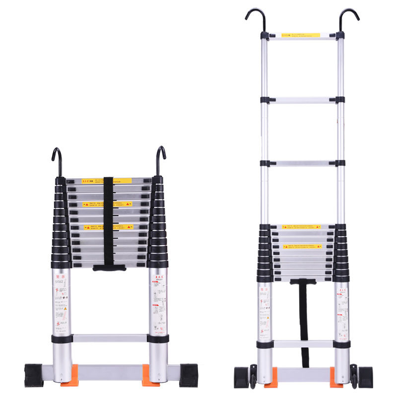 Thicken Aluminium Alloy Project Ladder Belt Hook Flexible Go Up And Down Fold Domestic Indoor Bamboo Joint Straight Ladder