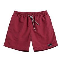 Мужчины повседневный дышащий быстрый сухой брюки карманы пляж однотонный цвет спорт шорты