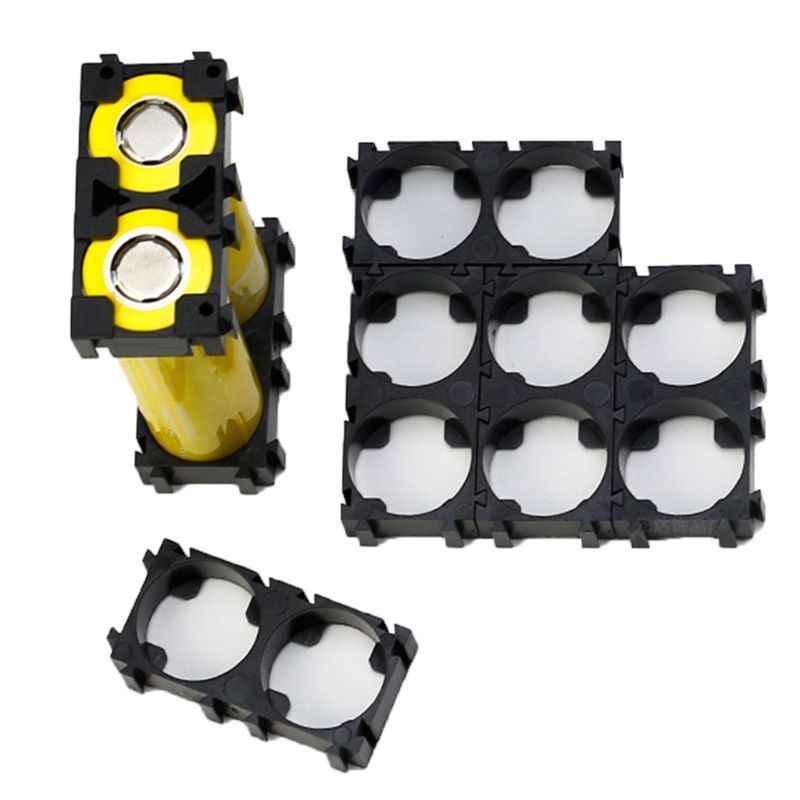 20 pièces 1x2 support de batterie support sécurité Anti Vibration en plastique supports de cellules pour 21700 Batteries Pack