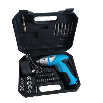 Destornillador eléctrico recargable de 4,8 V, destornillador eléctrico, juego de caja de...