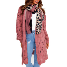 купить Women Cardigan Sweater Hollow Out Sweater Coat Autumn Knitted Cardigan Women Casual Basic Sweater sueter mujer invierno D25 онлайн