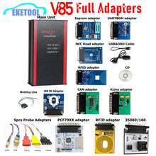 最新V85 iprog + progプログラマiprogサポートimmo/マイレージ補正/エアバッグリセット交換carprog/digiprog/タンゴまで2019