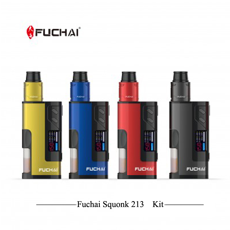 Original Electronic Hookah Sigelei Fuchai Squonk 213 Box Mod Kit 150 Power With 5ml Tank Atomizer By 21700/20700/18650 Vape