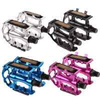 """1 Pair BMX MTB Aluminium Alloy Mountain Bicycle Cycling 9/16"""" Pedals Flat Bicycle Pedal Bike Accessoies Bicycle Parts"""