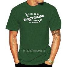 ELECTRICIAN - FIX STUPID T-SHIRT FUNNY SPARKY TSHIRT WORK T SHIRT PRESENT S-XXXL